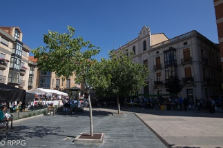 Plaza de Santocildes, Astorga, Leon. España